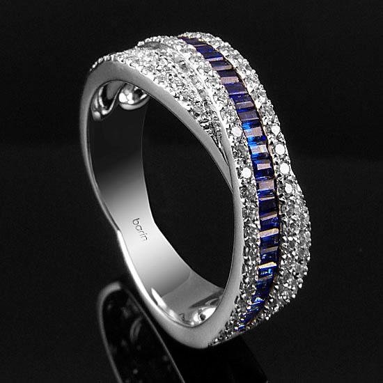 oro blanco diamantes zafiros
