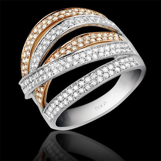 oro blanco y roor rosa diamantes