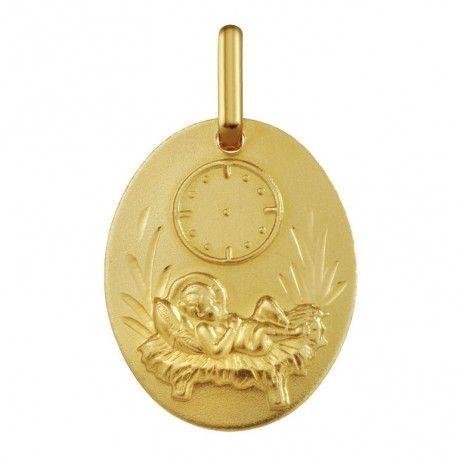 medalla-bebe-con-reloj